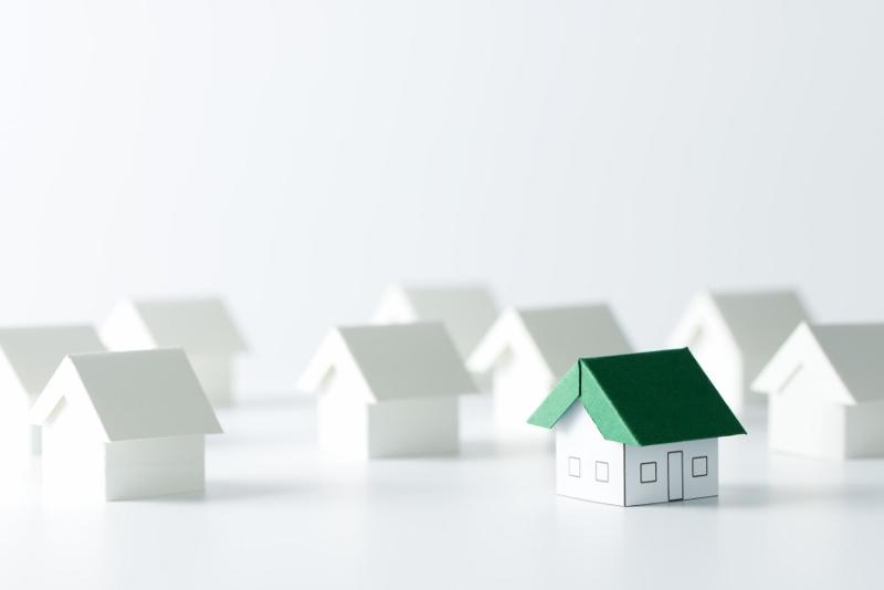 varias casas representando o feirão de imóveis